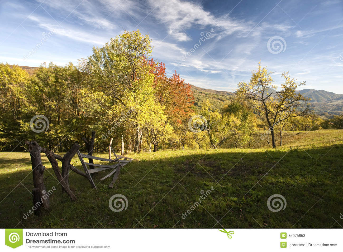Colorful Mountain Scenes From The Carpathians Of Romania