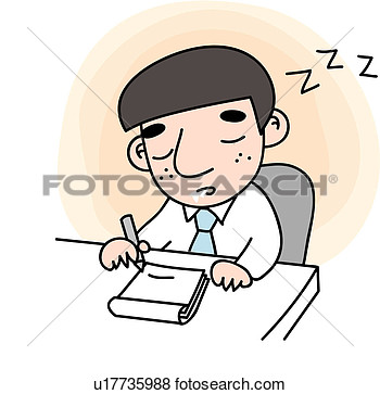 Eyes Closed Tired Slobber Snap Sleep Businessman