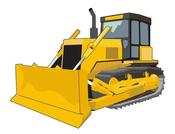 Clip Art Bulldozer Clipart bulldozer clipart kid free vector clip art 123freevectors