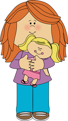 Girl With Doll Clip Art