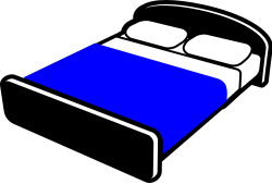 Made Bed Clipart Getting Into A Made Bed At