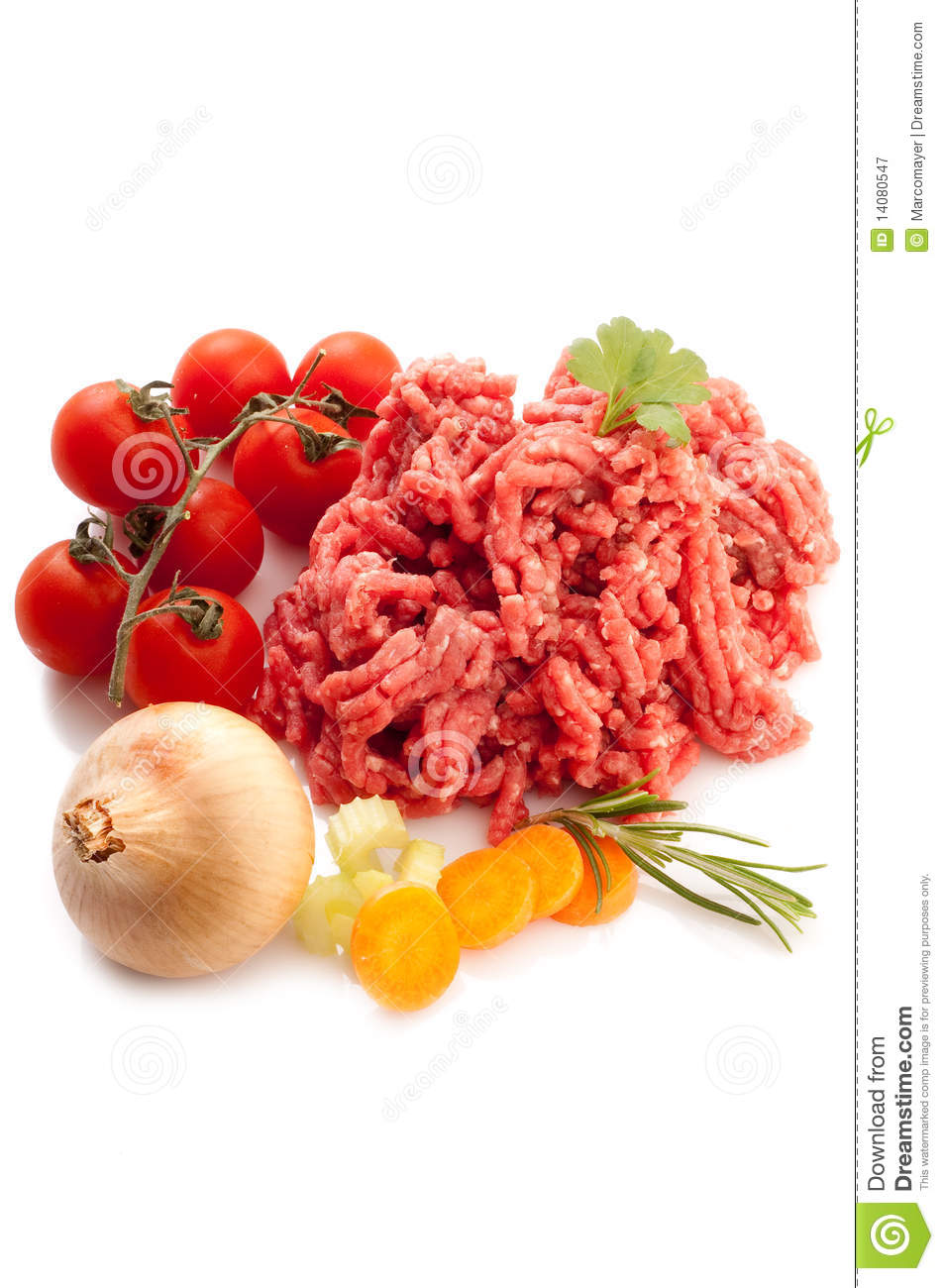 Meat Loaf With Ingredients Royalty Free Stock Photography   Image