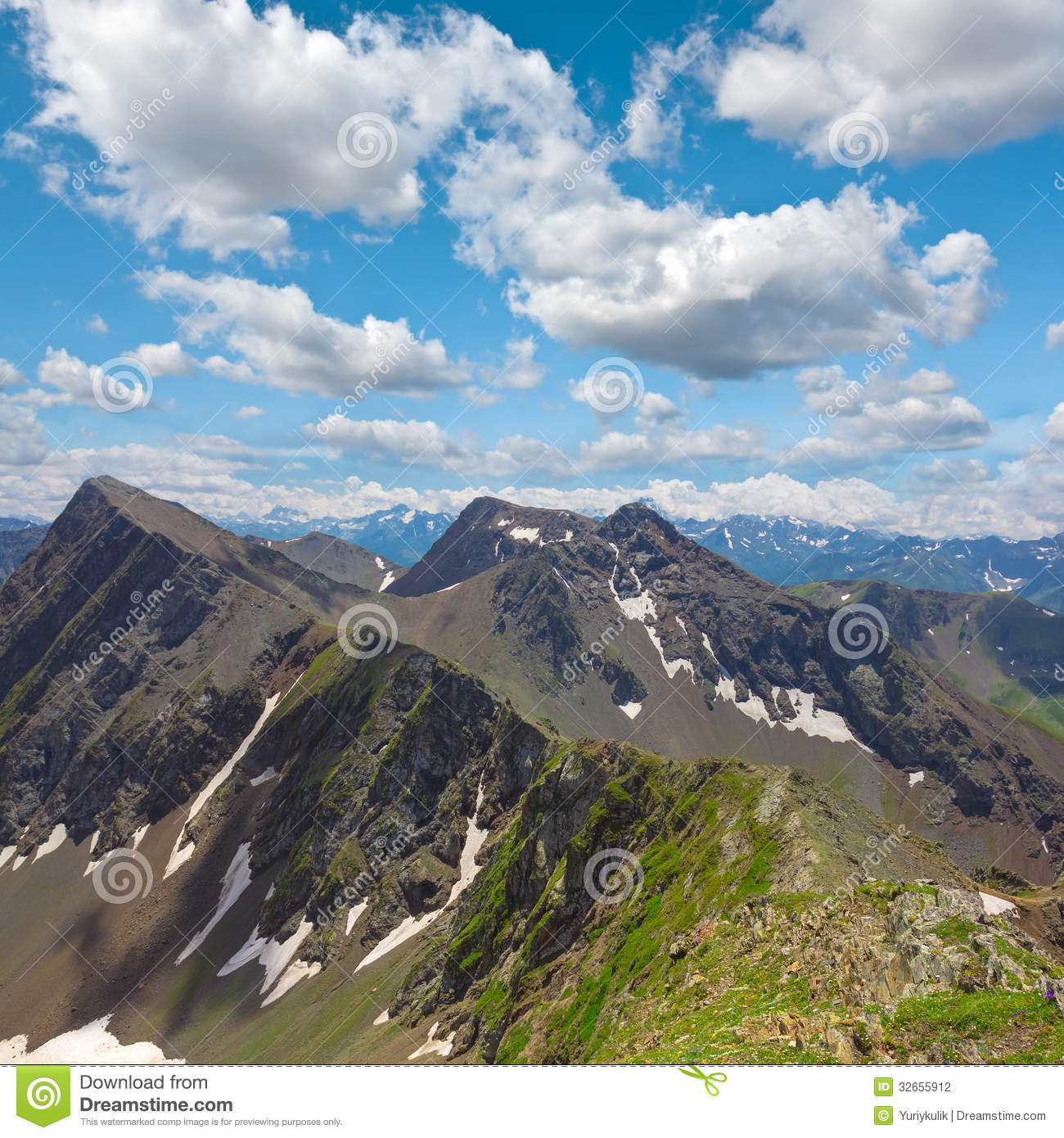 Mountain Scene Stock Photography   Image  32655912