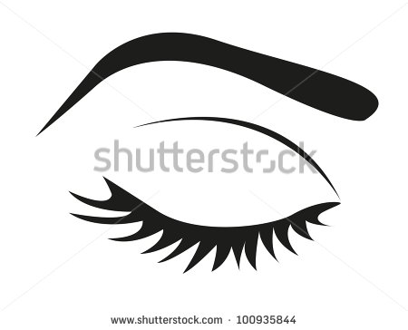 Of Eye Lashes And Eyebrow Closed Vector Illustration   Stock Vector