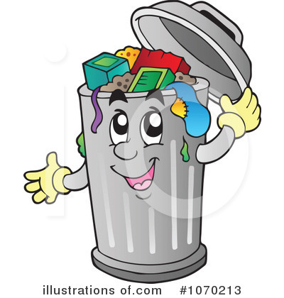 Royalty Free  Rf  Trash Can Clipart Illustration By Visekart   Stock