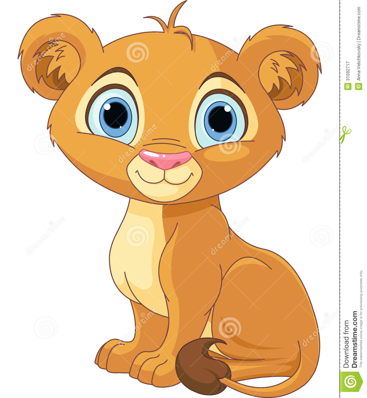 Royalty Free Stock Photography  Lion King Cub