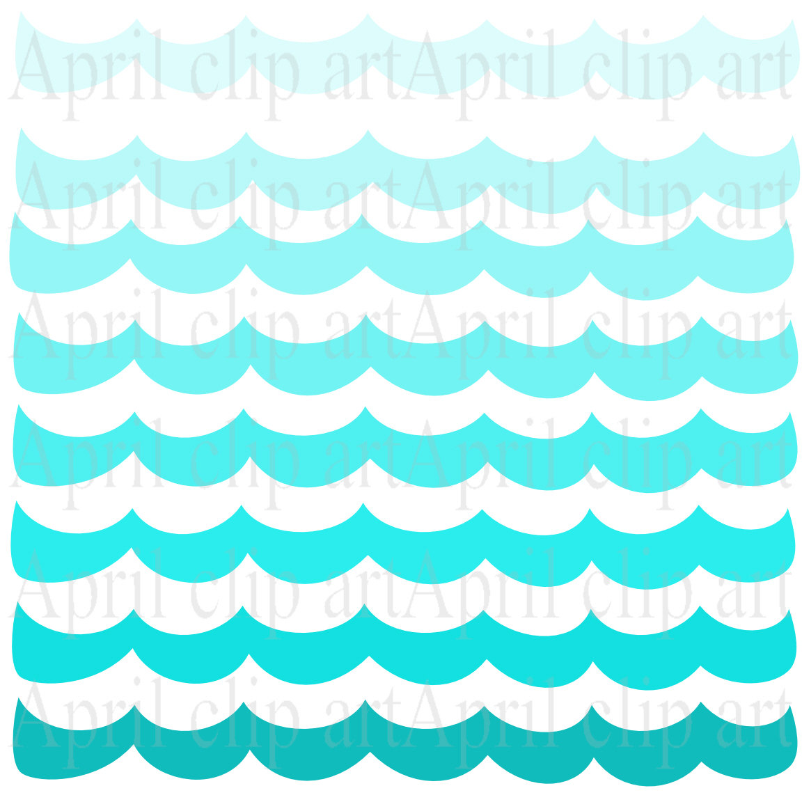 Sea Water Clipart Ocean Waves Border Clipart