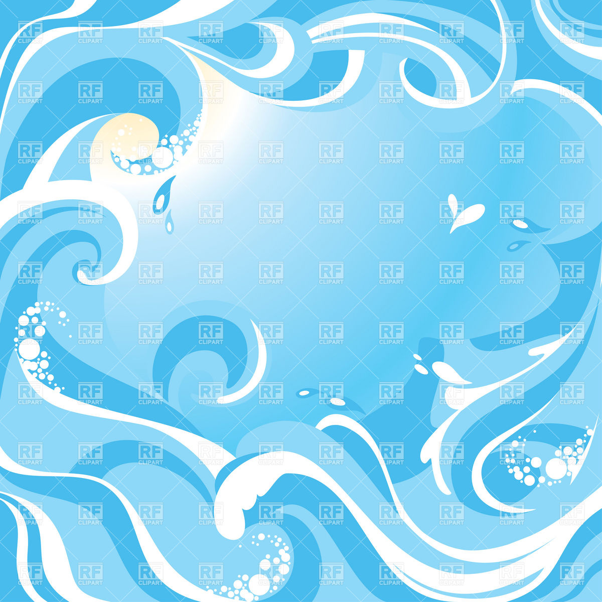 Water Background With Sea Waves Download Royalty Free Vector Clipart