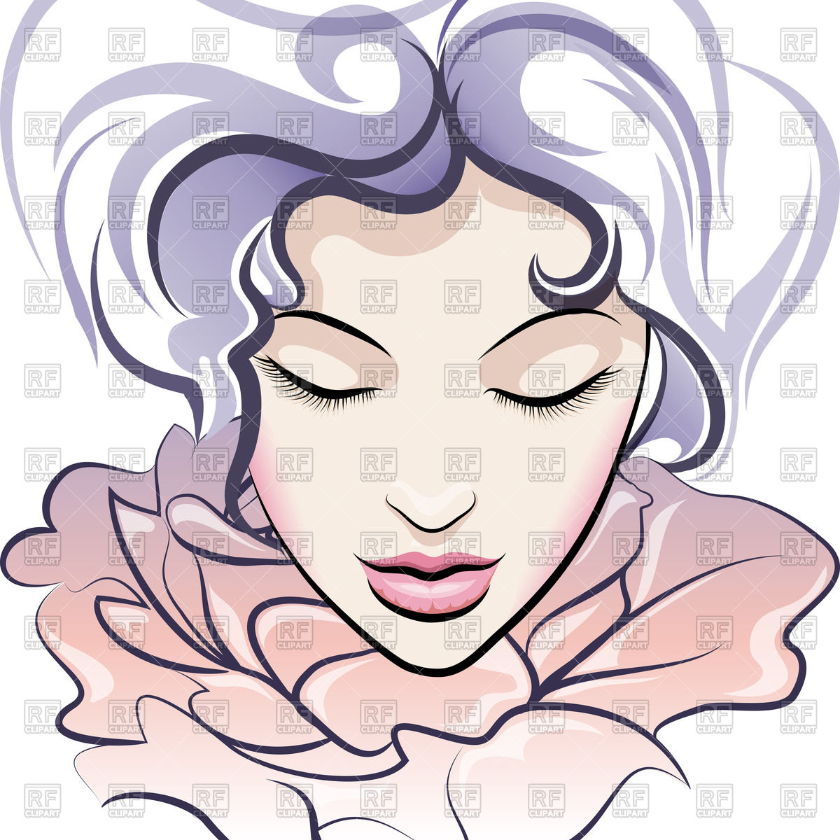With Closed Eyes People Download Royalty Free Vector Clip Art  Eps