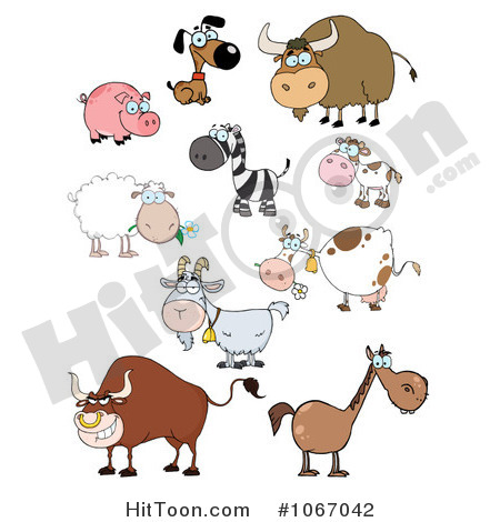 Animals Clipart  1067042  Barnyard Animals By Hit Toon