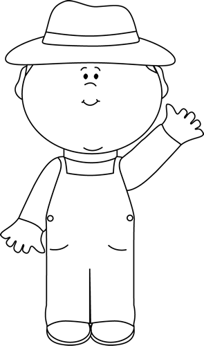Arts As An Outlined Pizza Boy Clipart Or Sheet Clipart