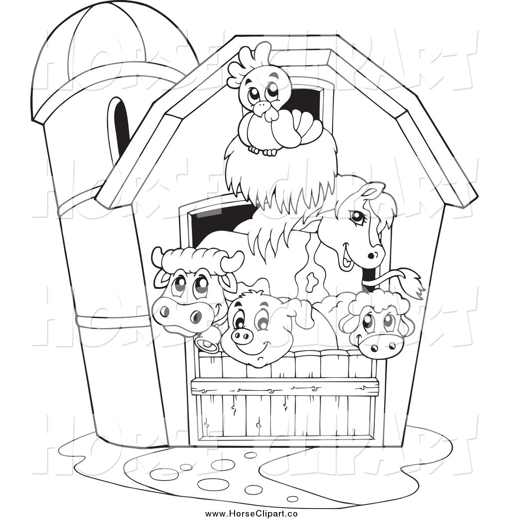 barn animals coloring pages - photo#9