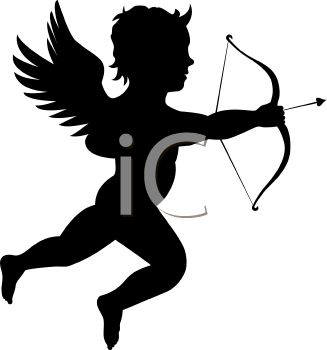 Cupid Clip Art Black And White