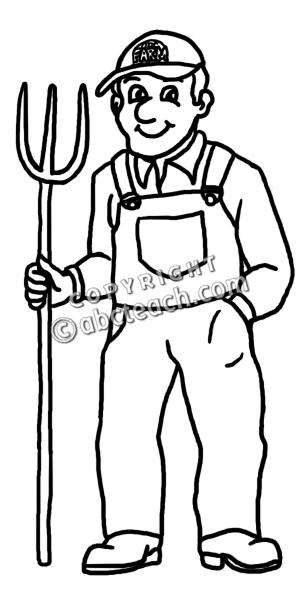 Cute Farmer Clipart - Clipart Kid
