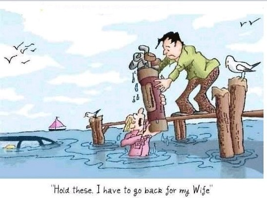 Funny Cartoon Of Husband And Wife   Funny Wife And Husband Cartoons