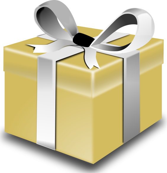 Gift Box Gold : Christmas gift box clipart suggest