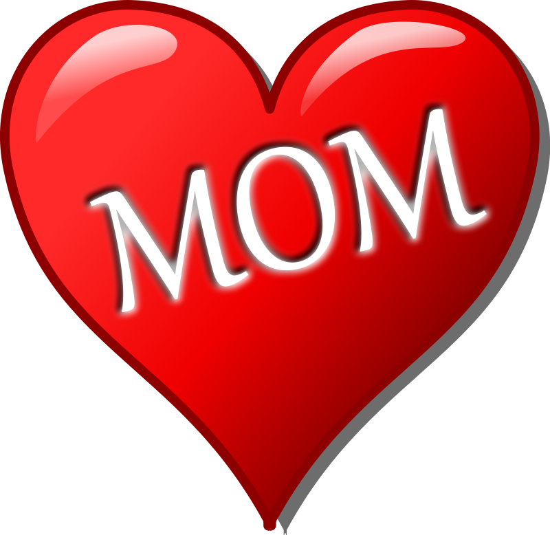 I Love My Mom Clipart - Clipart Kid