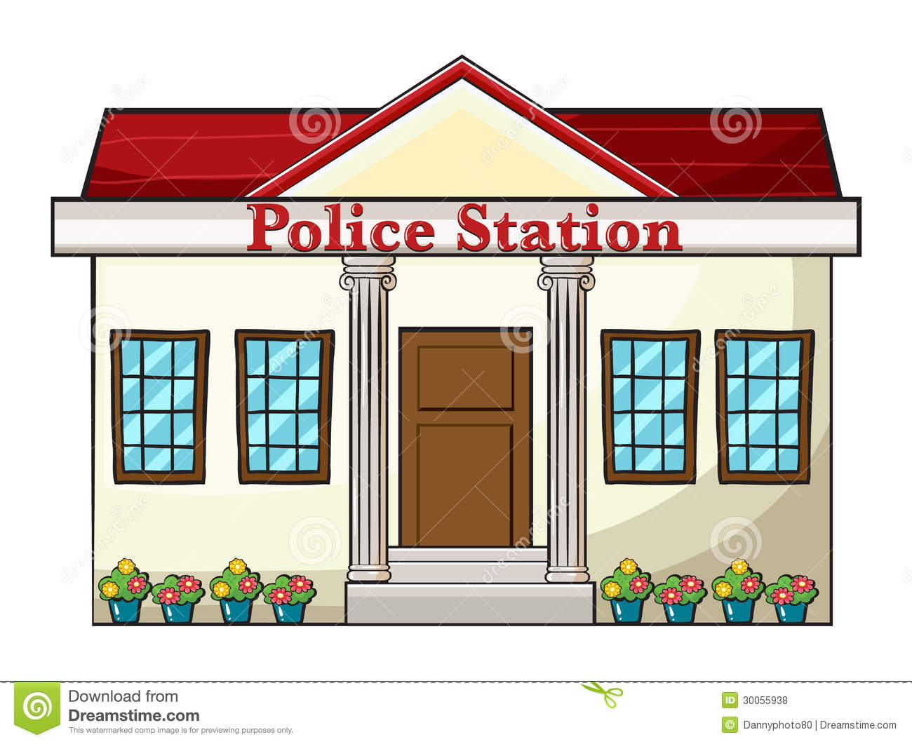 police station building coloring pages - photo#38