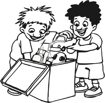 Share Clipart 0511 1008 3119 0835 Black And White Cartoon Of Two