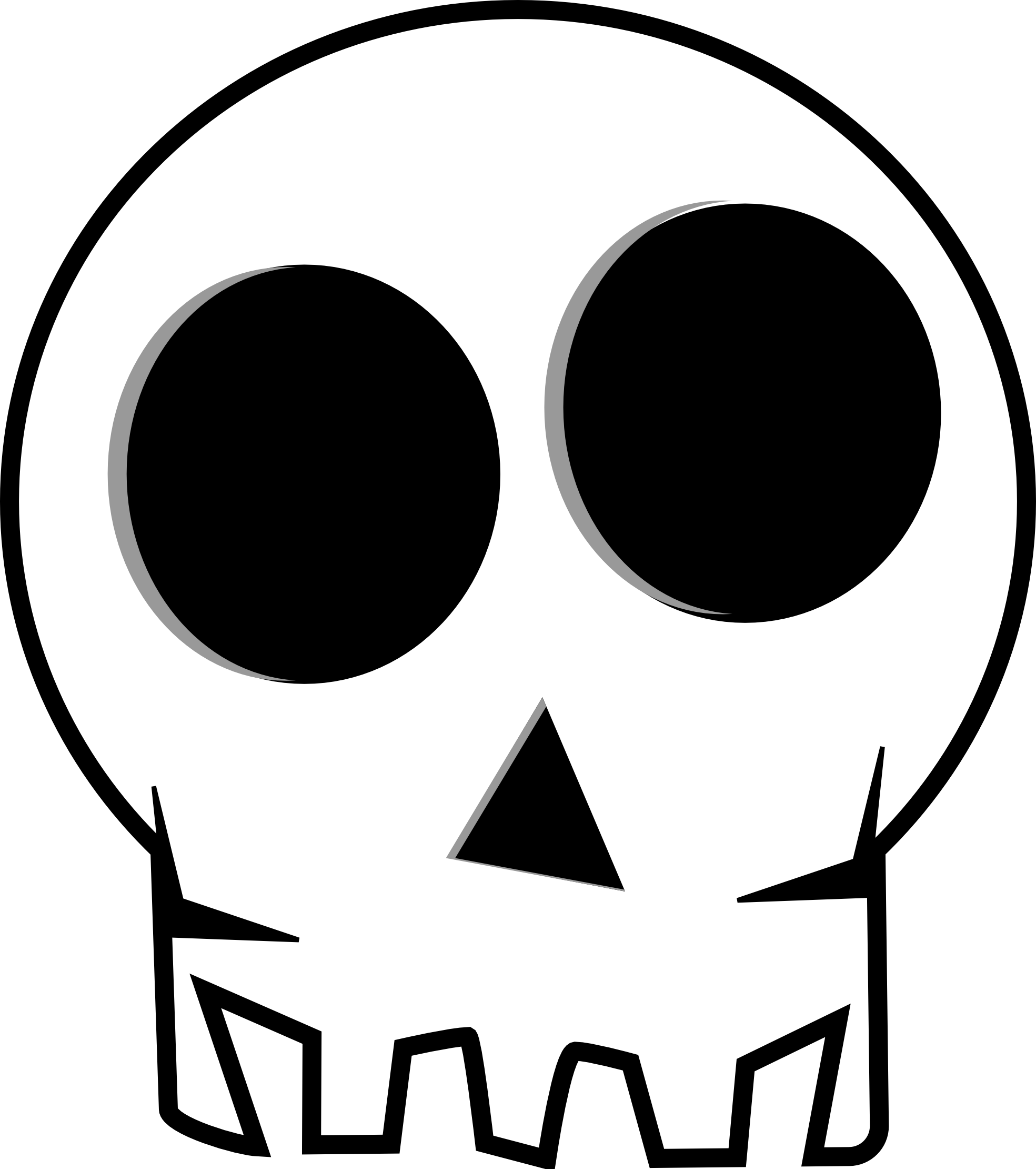 Cartoon Skull Clipart - Clipart Kid