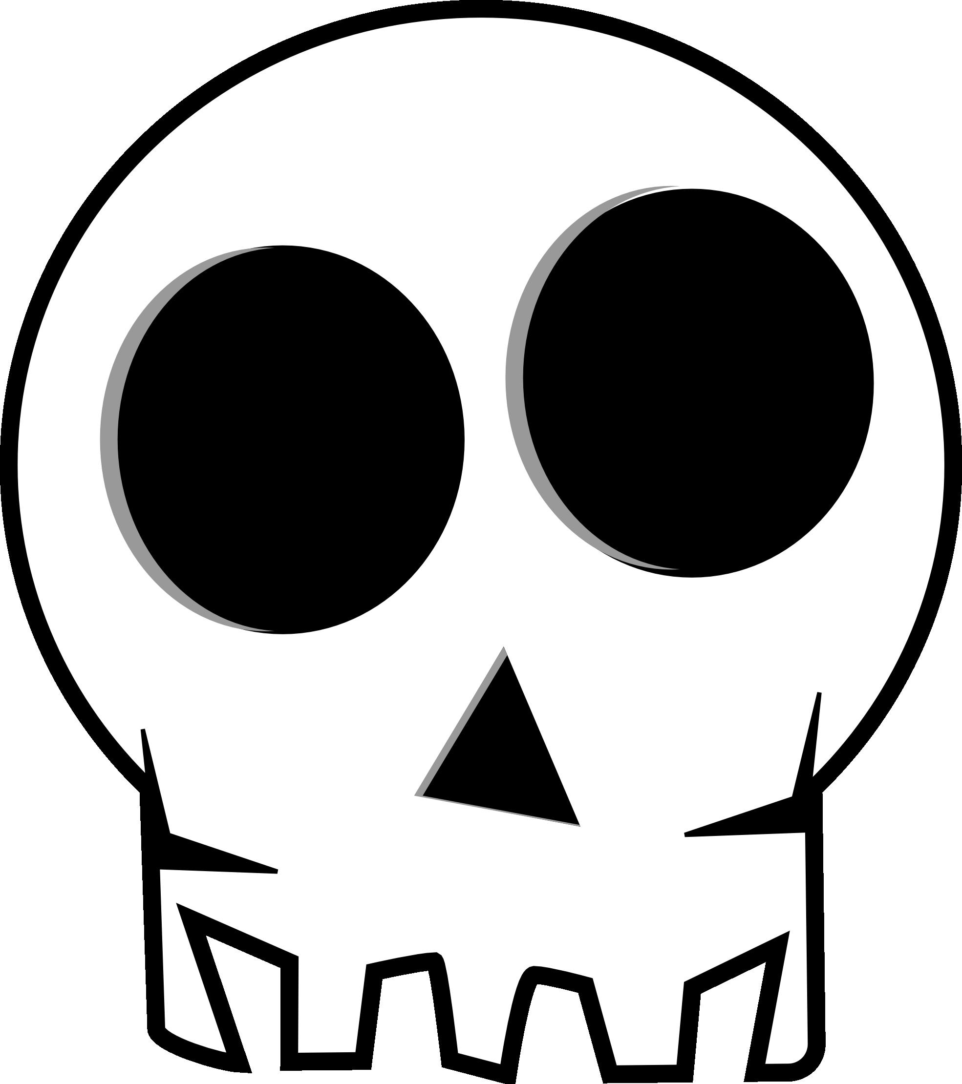Cartoon Skull Clipart - Clipart Kid