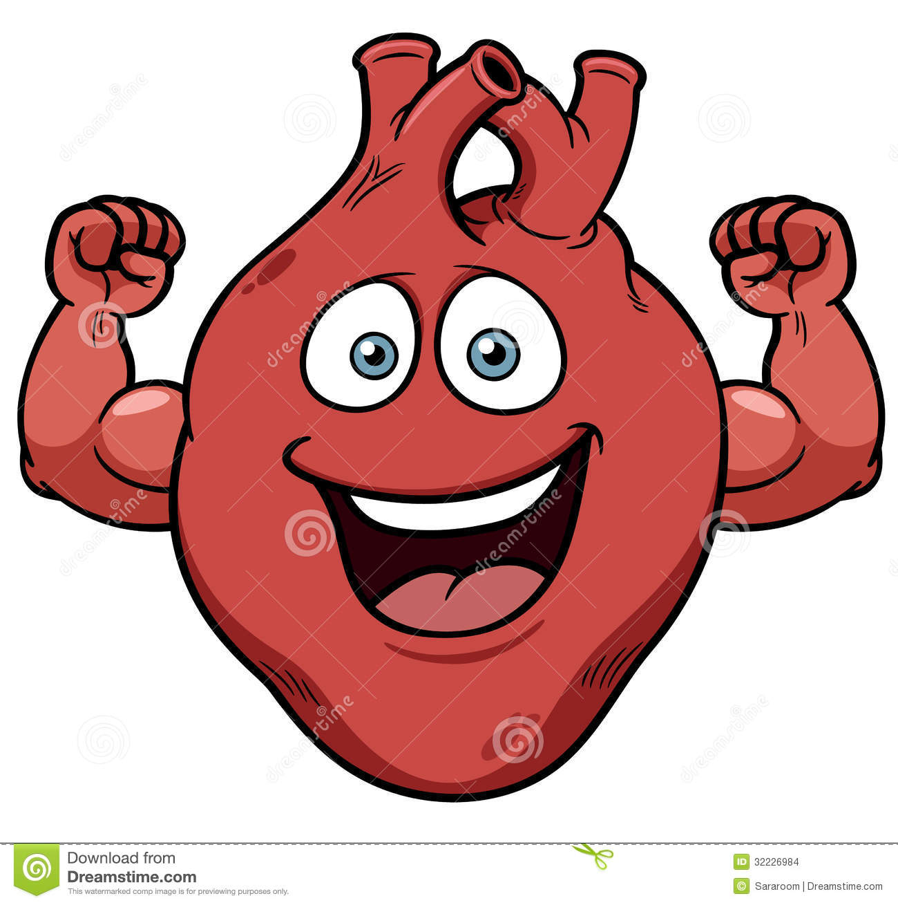 Strong Heart Cartoon Stock Images   Image  32226984