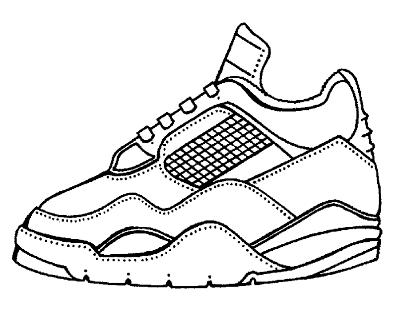printable tennis shoe coloring pages - photo#3