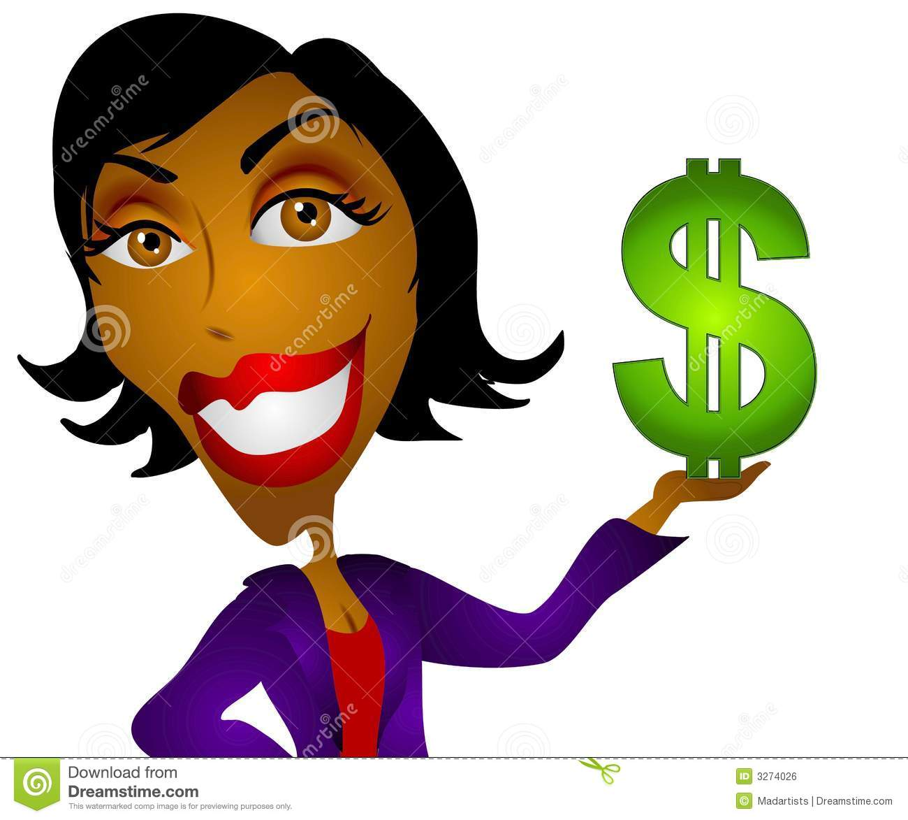 American Woman Money Royalty Free Stock Image Image   School Clipart
