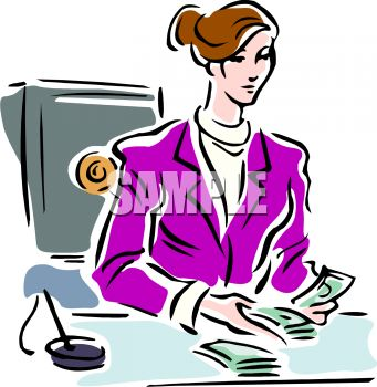 Bank Employee Counting Money   Clipart Panda   Free Clipart Images