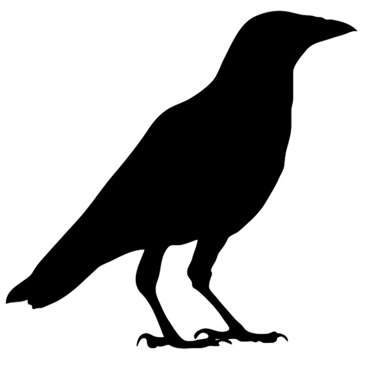 Flying Crow Silhouette Clipart - Clipart Kid