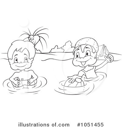 Swimming Black And White Clipart - Clipart Suggest Kids Swimming Black And White