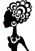 Black Woman Silhouette Clipart