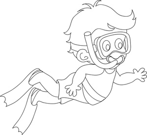 Boy Swimming Clipart
