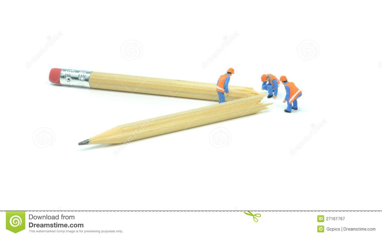 Broken Pencil Royalty Free Stock Photography   Image  27161767