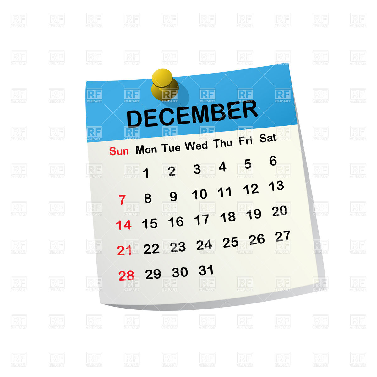 Calendar Word Art : Month of december word clipart suggest