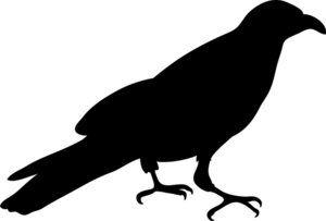 Crow Clipart Image   Crow Silhouette