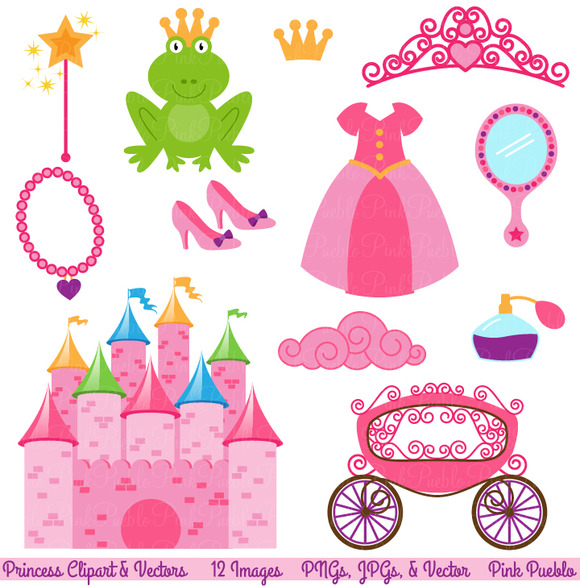 Fairytale Clipart And Vectors   Illustrations On Creative Market