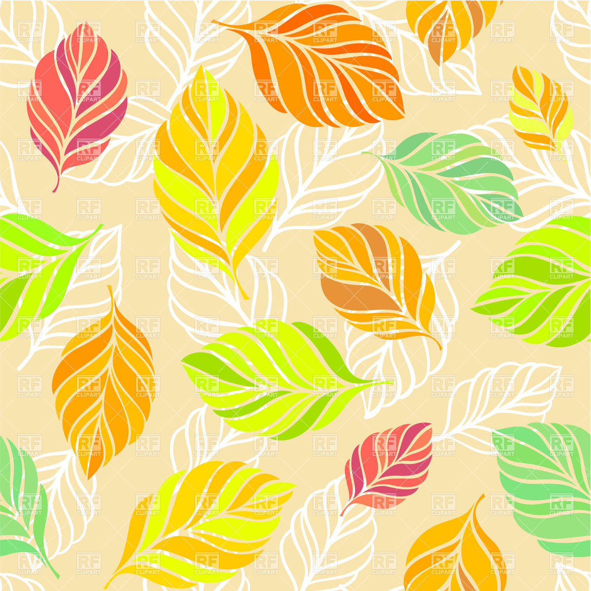 Fall Leaf Background Clipart