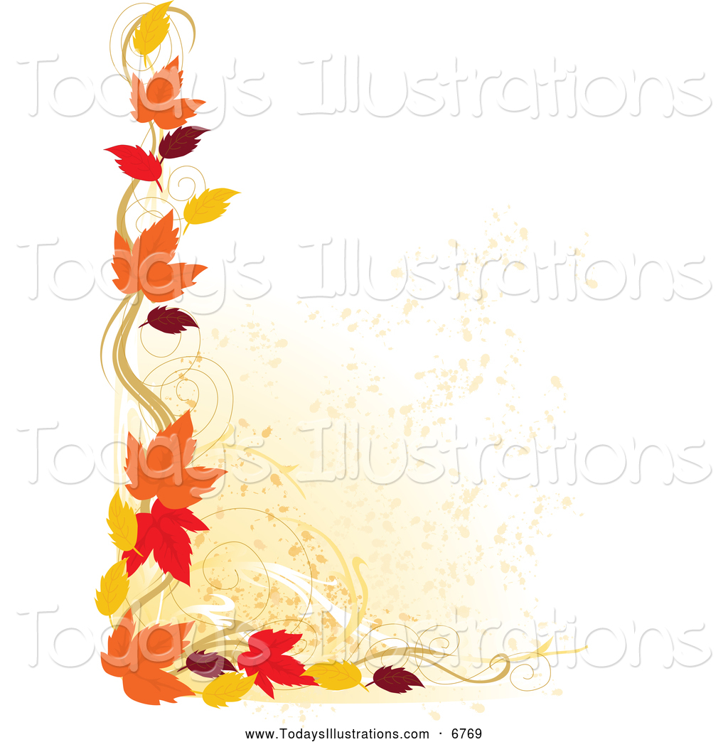 Fall Leaves Background Clipart   All The Gallery You Need