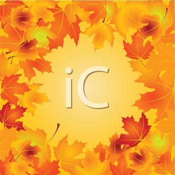Fall Leaves Background   Royalty Free Clipart Image