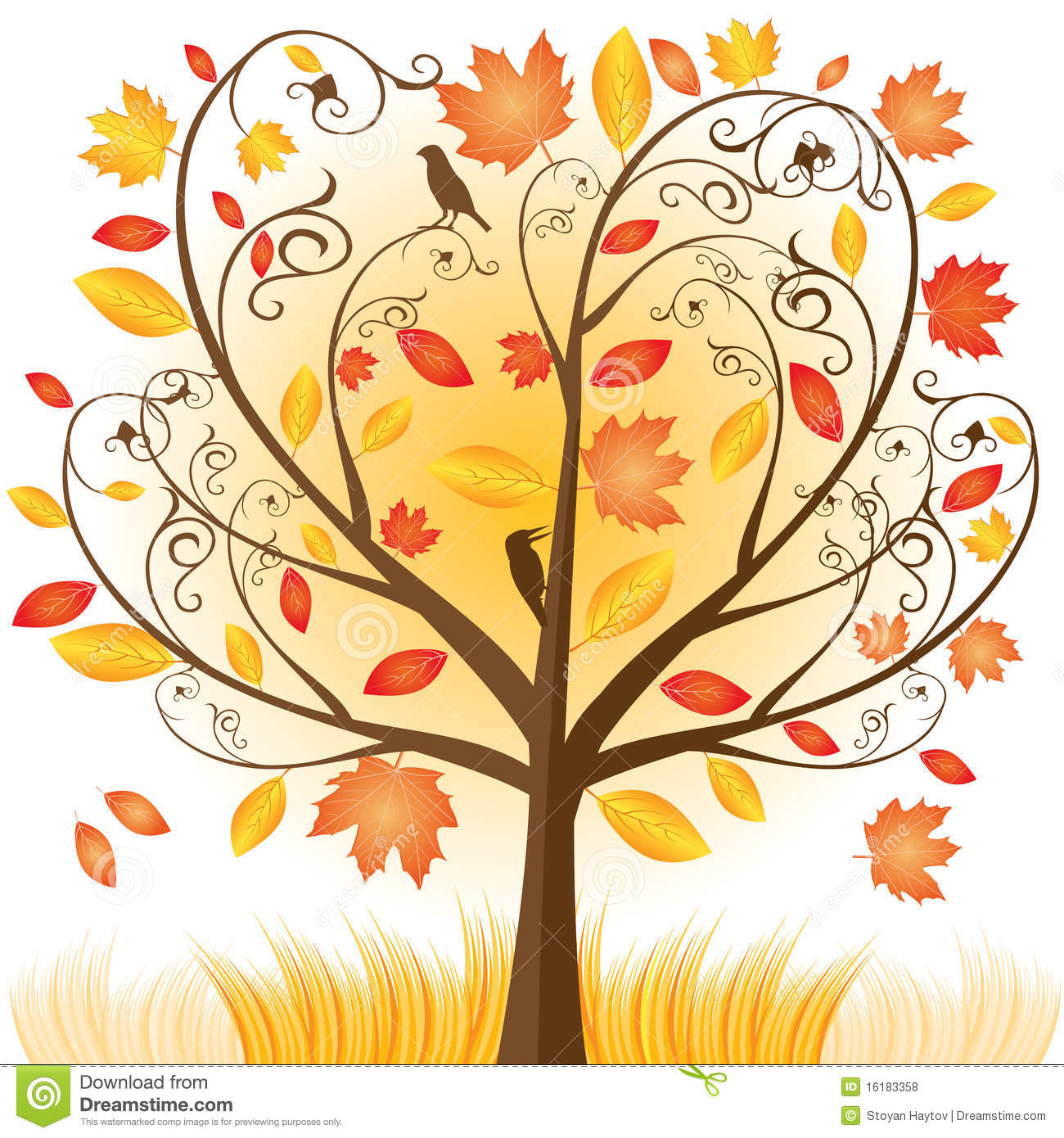 Fall Trees Background Clipart Beautiful Autumn Tree With