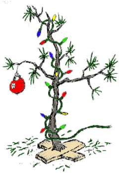 Free Clipart Picture Of A  Charlie Brown Scrawny Christmas Tree