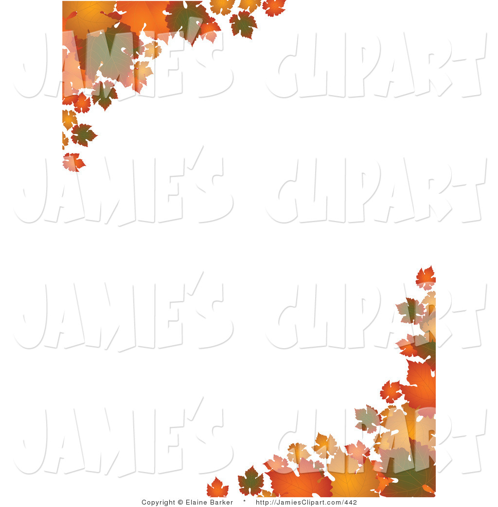 Green Orange And Yellow Autumn Leaves Over A Solid White Background