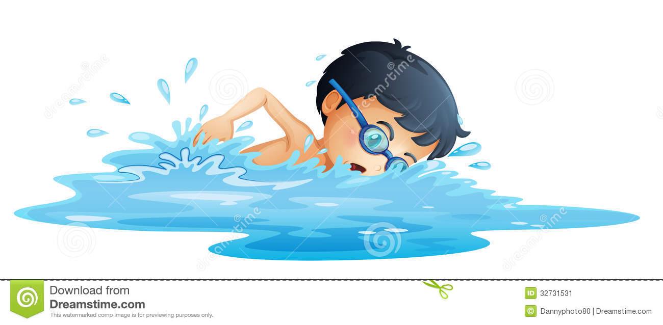 Boy Swimming Clip Art