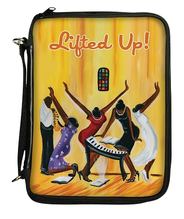 Lifted Up Bible Cover   African American Bible Cover