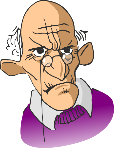 Old Man Cartoon Clip Art At Clker Com   Vector Clip Art Online