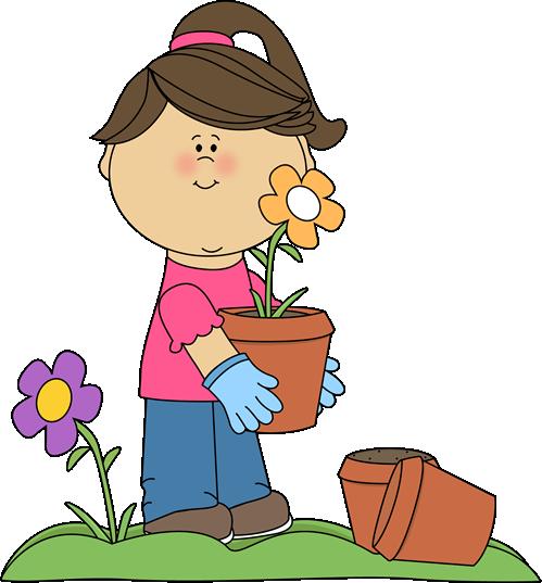 Planting Flowers Clip Art