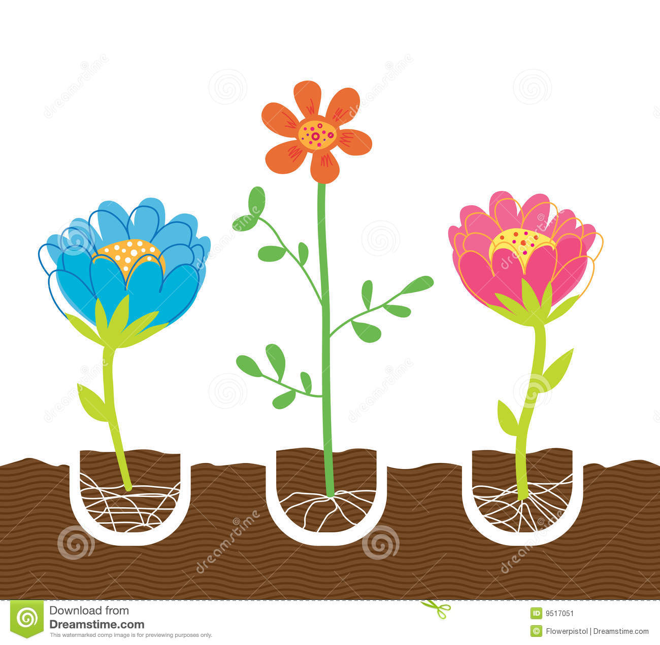 Planting Flowers Stock Image   Image  9517051