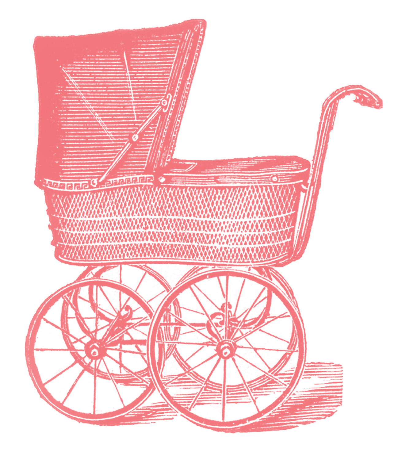 Royalty Free Images   Vintage Baby Carriages   The Graphics Fairy