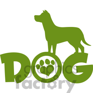 Royalty Free Rf Clipart Illustration Dog Green Silhouette Over Text